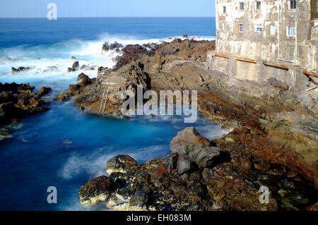 Punta Brava, Puerto De La Cruz, Teneriffa, Kanarische Inseln, Spanien - Stockfoto