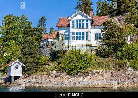 Fjord-Norwegen, Oslo, Oslofjord, Wohnung auf einer der vielen Inseln - Stockfoto