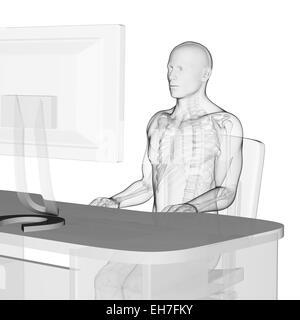 richtig sitzen am schreibtisch haltung ergonomie ratschl ge f r b roangestellte wie am. Black Bedroom Furniture Sets. Home Design Ideas