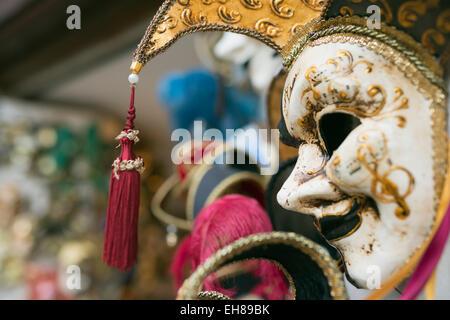 Venezianische Karnevalsmasken, Venedig, Veneto, Italien, Europa - Stockfoto