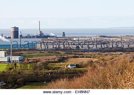 Tata-Stahlwerk Stahl ehemals Corus in Margam Port Talbot, South wales