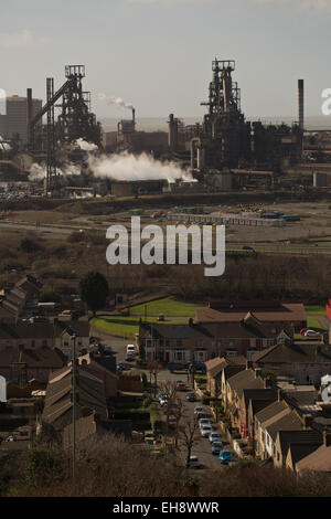 Tata Steel Strip Products UK Port Talbot Werke, Tata Steel Works, Port Talbot, South Wales, UK, EU. Stockfoto