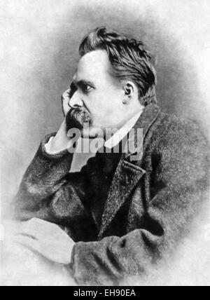 Friedrich Wilhelm Nietzsche (1844-1900), deutscher Philosoph, Dichter und Schriftsteller. Siehe Beschreibung für - Stockfoto