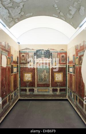 Rom. Italien.  Rekonstruktion der mit Fresken dekorierten Schlafzimmer Villa della Farnesina. Palazzo Massimo Alle - Stockfoto