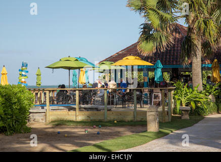 Bar, Restaurant am Strand in Puerto Rico - Stockfoto