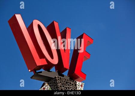 Liebe-Schild am Main Street Disney World in Lake Buena Vista, Florida. - Stockfoto