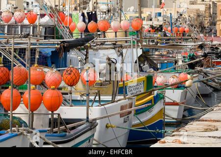 Fishing Village von Marsaxlokk ein traditionelles Dorf in Malta - Stockfoto