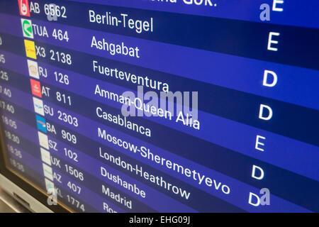 Flugplan Frankfurt Ankunft