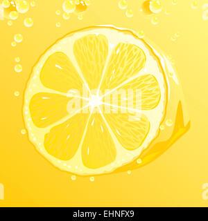 Zitrone mit bubbles - Stockfoto