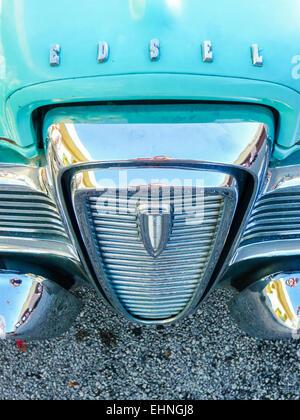 Kühlergrill von einem 1958 Ford Edsel - Stockfoto