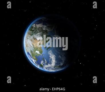 Die Erde aus dem Weltraum. Asien - Stockfoto