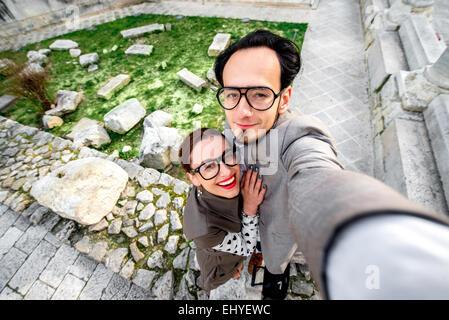 Paar Selfie Aufnahme - Stockfoto