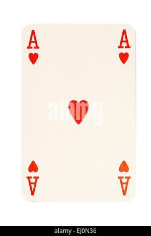 Ace Of Hearts Spielkarte - Stockfoto