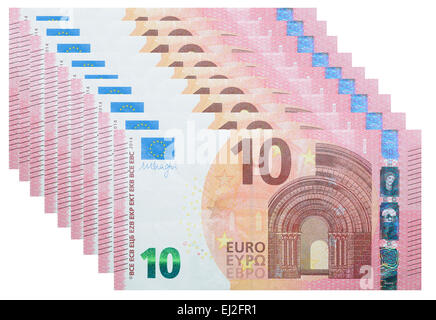 Neue Banknoten 10 Euro - Stockfoto
