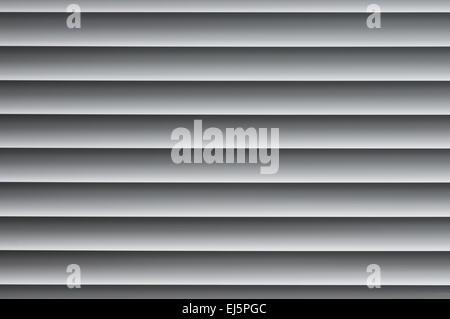 Backrgound Bild der geschlossenen metallischen Jalousien am Fenster - Stockfoto