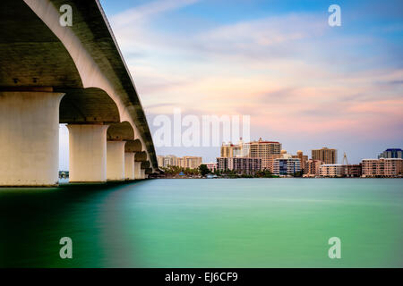 Sarasota, Florida, USA Stadt Stadtbild von Sarasota Bay. - Stockfoto