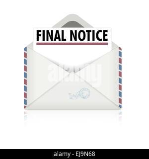 Letzte Mahnung Symbol Stockfoto Bild 100002006 Alamy