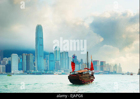 Victoria Harbour, Hongkong - Stockfoto
