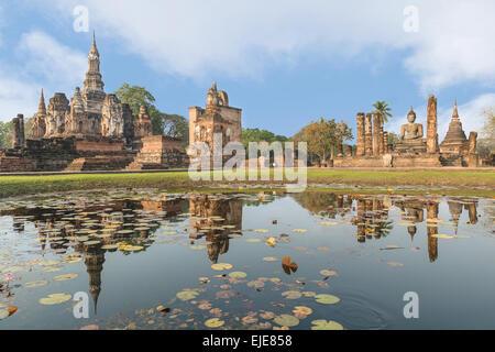 Geschichtspark Sukhothai in Thailand - Stockfoto