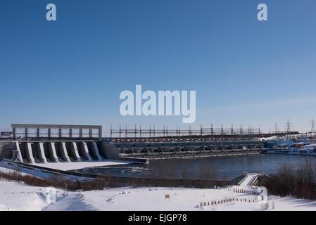 La Grande-1 ist ein Wasserkraftwerk am Fluss Grande La, die Hydro-Québec James Bay Projekt gehört - Stockfoto