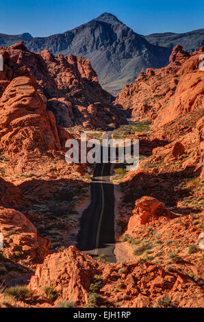 Mouse Tank Road - Valley Of Fire - Nevada - Stockfoto
