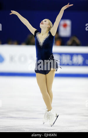 Shanghai, China. 26. März 2015. Gracie Gold (USA) Eiskunstlauf: ISU World Figure Skating Championship Womens Kurzprogramm - Stockfoto