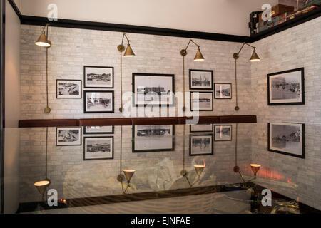 Die Freimaurer-Hotel Interieur der Bar Restaurant-Bereich mit ...