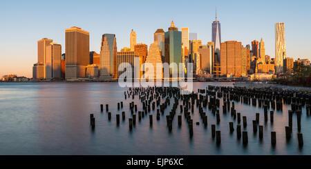 USA, New York City Downtown Manhattan Financial District, One World Trade Center (Freedom Tower) - Stockfoto
