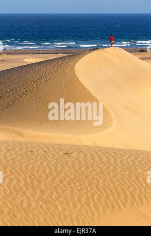 Düne-Strand von Maspalomas, Gran Canaria, Kanarische Inseln, Spanien - Stockfoto