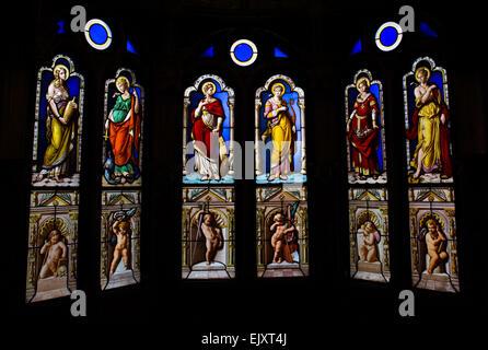 ActiveMuseum_0005763.jpg / Oratorium, geboten im Jahre 1858 von Duban, ein Meister Glasmacher Claudius Lavergne, - Stockfoto