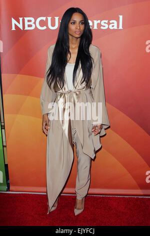 Los Angeles, Kalifornien, USA. 2. April 2015. Ciara besucht NBC Universal Sommer Presse Tag 2015 im The Langham - Stockfoto