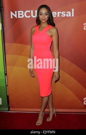 Los Angeles, Kalifornien, USA. 2. April 2015. Amber West besucht NBC Universal Sommer Presse Tag 2015 im The Langham - Stockfoto