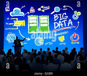 Vielfalt Menschen Big-Data-Seminar Konferenz Geschäftskonzept - Stockfoto