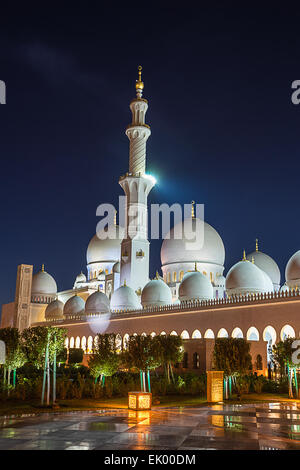 Sheikh Zayed Grand Moschee in Abu Dhabi - Stockfoto
