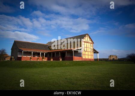 Rekonstruierte römische Villa Wroxeter Roman City in Wroxeter, Shropshire, England, UK. - Stockfoto