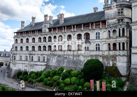 Chateau Royal de Blois, Loir-et-Cher, Frankreich - Stockfoto