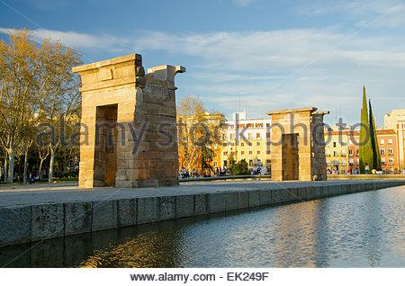 Debod Tempel in der Stadt Madrid - Stockfoto