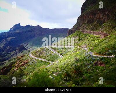 Masca-Dorf im Norden von Teneriffa Insel Kanaren Spanien - Stockfoto