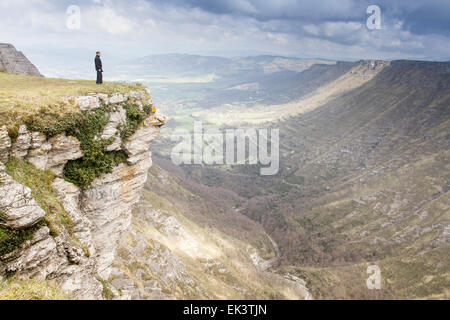 Nervion Canyon im Delika, Araba, Baskenland - Stockfoto
