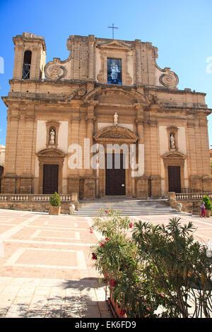 Der Dom, Duomo oder Chiesa della Maria Santissima del Soccorso in Sciacca, südliche Sizilien - Stockfoto