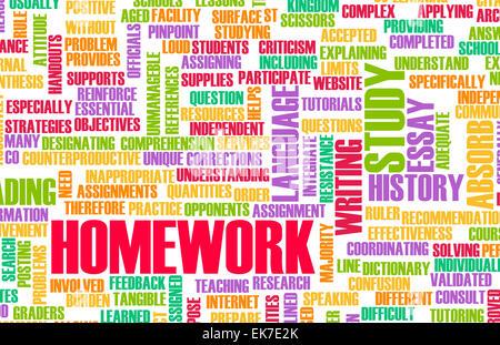 Hausaufgaben - Stockfoto