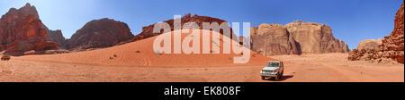 Vadi Ram - Jordanien. Panorama - Stockfoto
