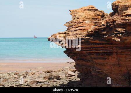 Pindan rote Felsen am Gantheaume Point Broome, Western Australia. - Stockfoto