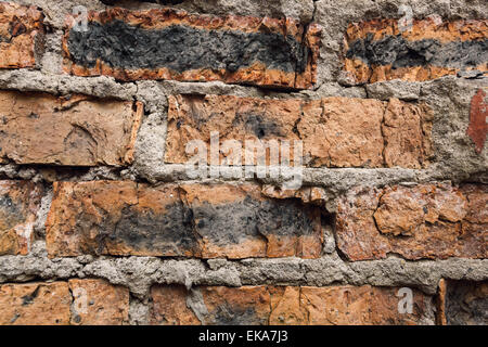 Hintergrund der bunten Ziegel Wand Textur. Mauerwerk - Stockfoto