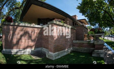 Frederick C. Robie House, Chicago Ill. außen - Stockfoto
