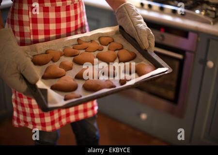 Frisch gebackene hausgemachte Zimt und Honig Kekse - Stockfoto