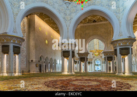 Sheikh Grand Moschee in Abu Dhabi - Stockfoto