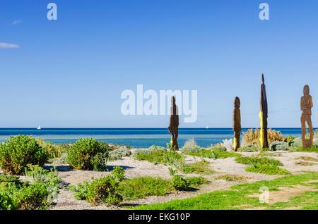 Skulptur auf den Dünen bei Dunsborough Strand, Western Australia - Stockfoto