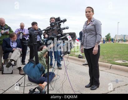 Kimberly Munley bei Purple Heart und Verteidigung der Freiheit Siegerehrung für die Opfer, Familie 2009 Terroranschlags - Stockfoto