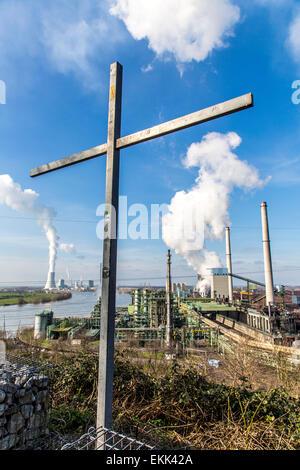 Europas größte Stahlproduktion Standort, Thyssen-Krupp, Duisburg, Stahlwerken, Kokereien, Pflanze, Hochofen, Kraftwerk, - Stockfoto